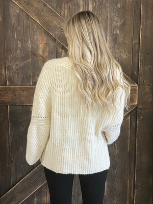 Pattern Knitted Open Front Cardigan