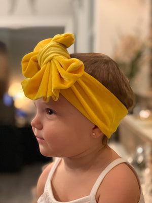 Big Bow Velvet Headband - 6 Colors