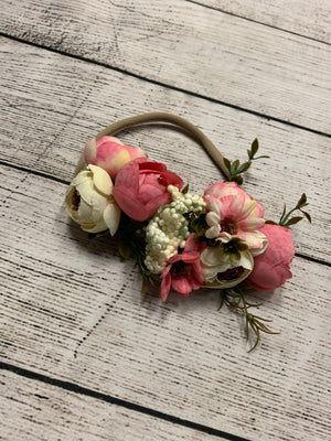 Flower Crown Headband in Pink