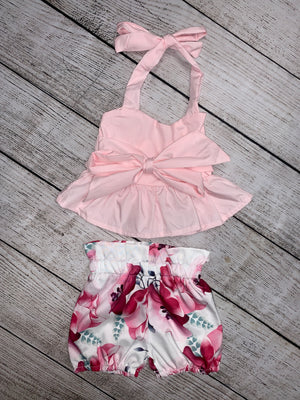 Floral Bubble Shorts & Halter Set