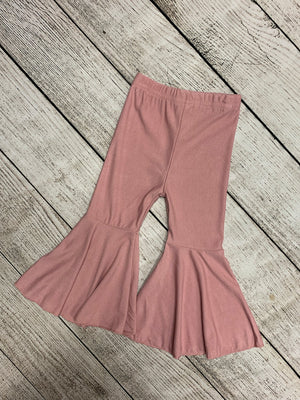 Bell Bottom Pants in Light Pink