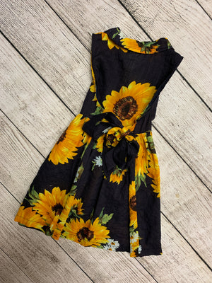 Button Up Sunflower Dress