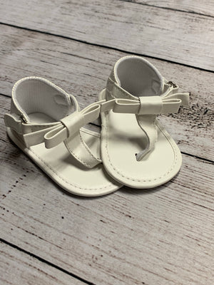 Infant Sandal with Bow in White