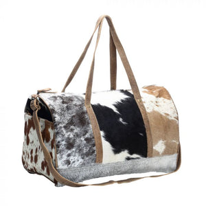 Compact Multi Color Hairon Duffle Bag