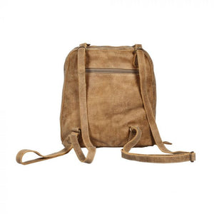 Multicolor Leather & Hairon Zipper Backpack