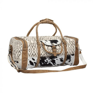 Chevron Rug & Hairon Duffle Bag