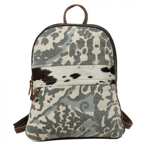 Printed Canvas & Hairon Backpack