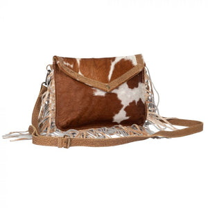Front Flap Fringe & Brown Hairon Purse