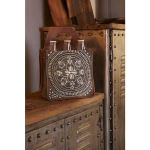 Leather & Canvas 6 Pack Beer Caddy