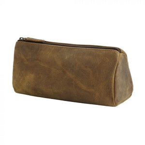 Tan Leather Multi Use Pouch