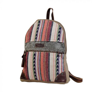 Multi Color Canvas & Hairon Backpack