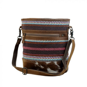 Layered Rug & Hairon Shoulder Bag