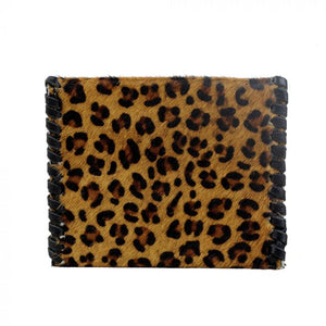 Leather & Hairon Coin Purse in Leopard