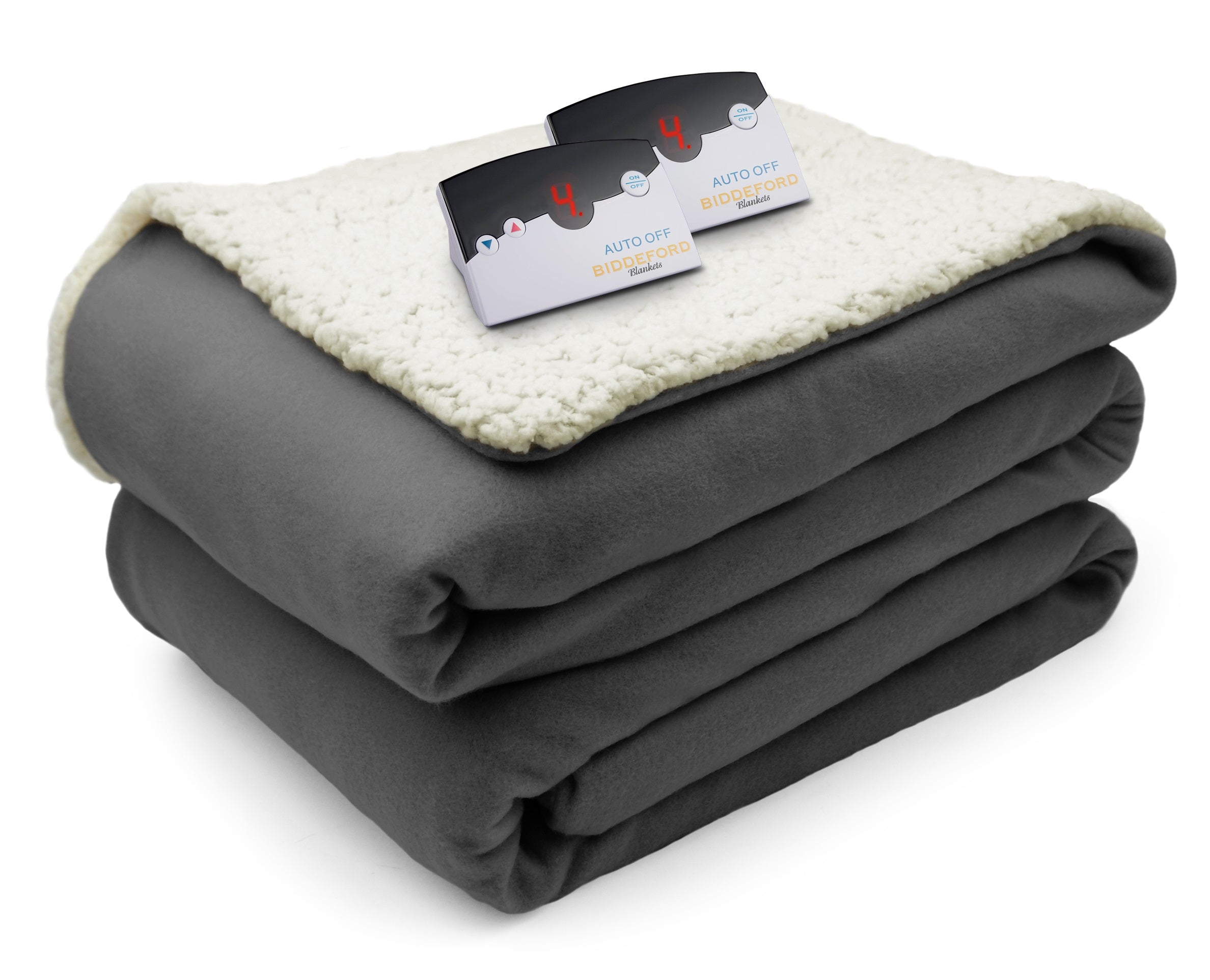 Comfort Knit Sherpa Blanket Digital Biddeford