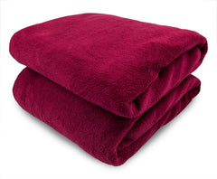 Brick Micro Plush Heated Throw
