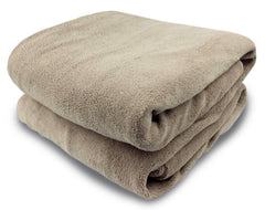 Taupe Micro Plush Heated Throw