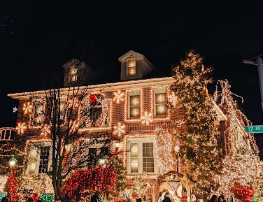 House with holiday decorations