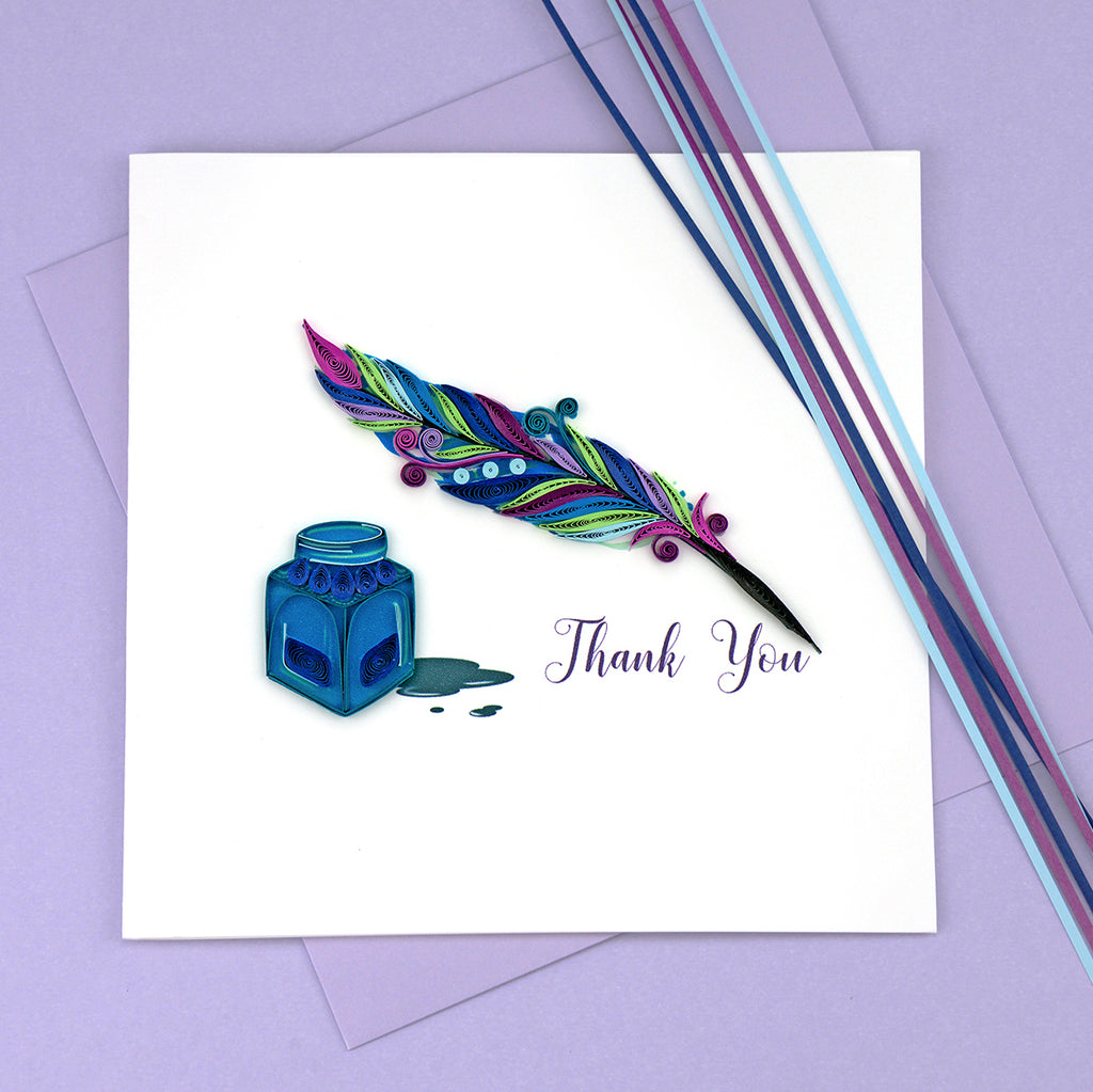 Quill & Ink Thank You Card