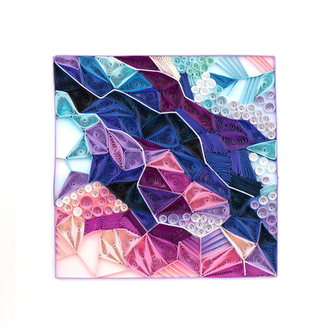 Quilled Amethyst Crystals Art