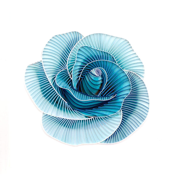 Quilled Blue Rose Art