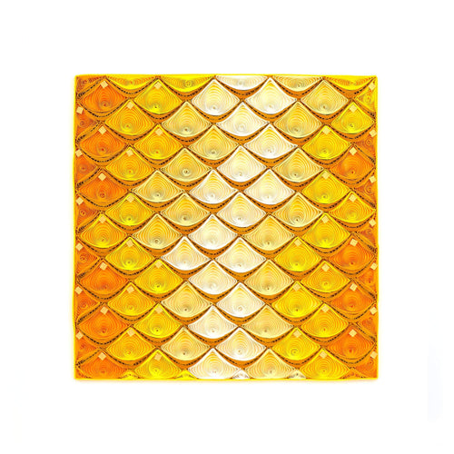 Quilled Gold Fish Scale Art
