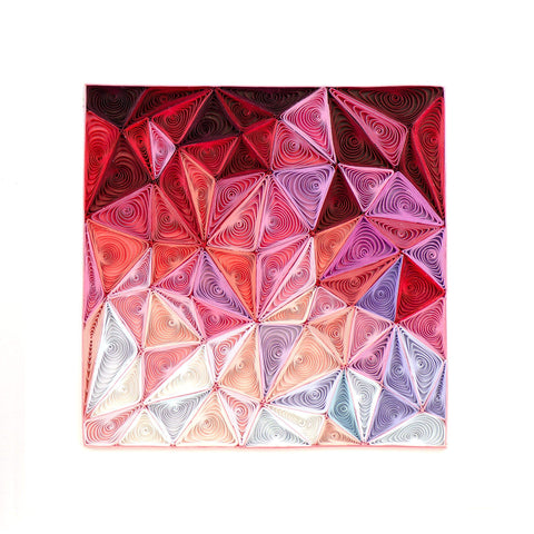 Quilled Maroon-Geo Art