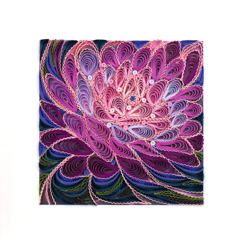 Quilled Purple Flower Art