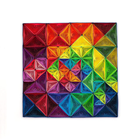 Quilled Rainbow-Geo Art