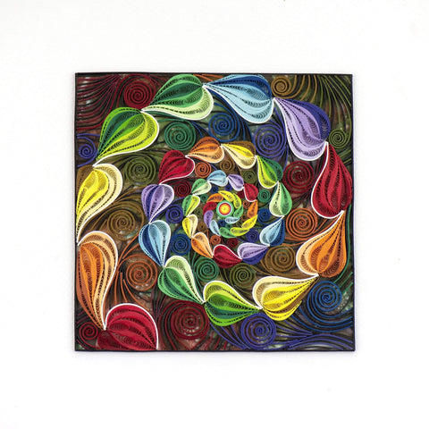Quilled Rainbow Swirl Art