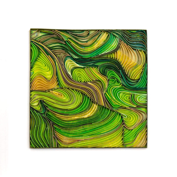 Quilled Rice Terraces Art