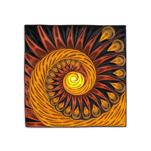 Quilled Tiger's Eye Art