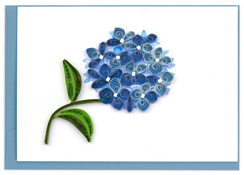 Quilled Blue Hydrangea Notecard Box Set