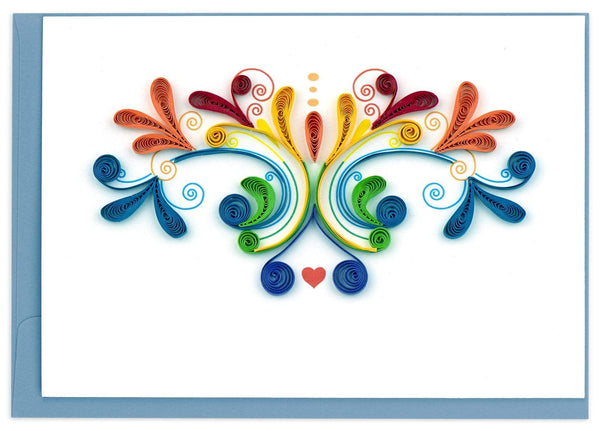 Quilled Rainbow Swirl Notecard Box Set