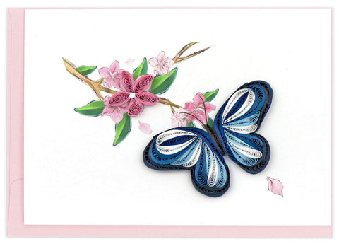 Quilled Blue Butterfly Notecard Box Set