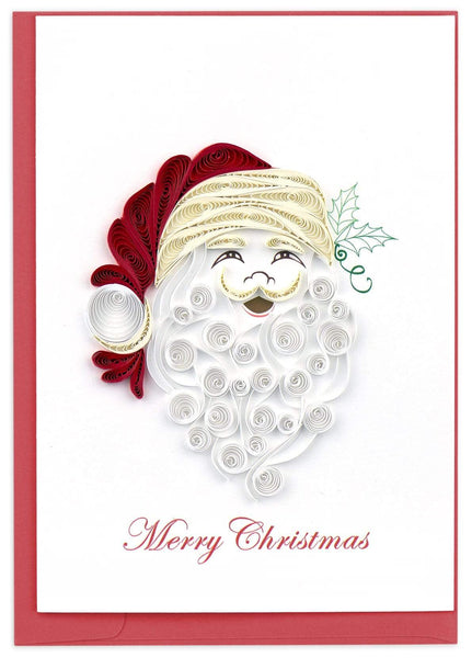 Quilled Santa Beard Holiday Card Box Set