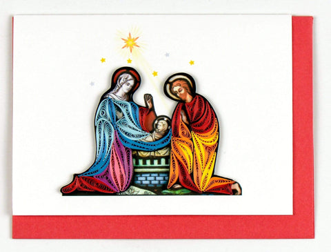 Quilled Nativity Scene Holiday Card Box Set