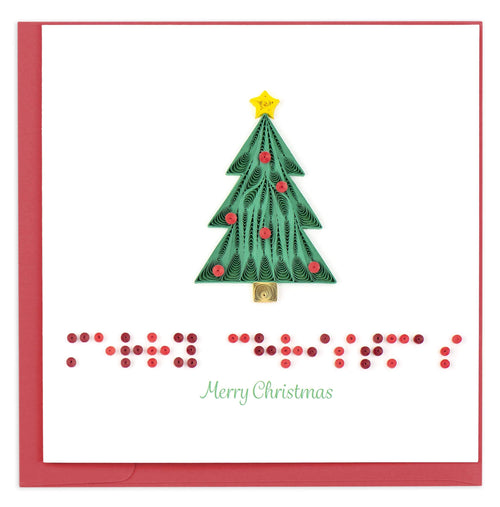 "BR1611 | Braille ""Merry Christmas"""