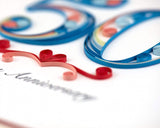 Detail shot of Quilled 50th Anniversary