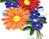 Quilled Birthday Wild Flowers Greeting Card