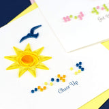 "Quilled Braille ""Cheer Up"" Card"
