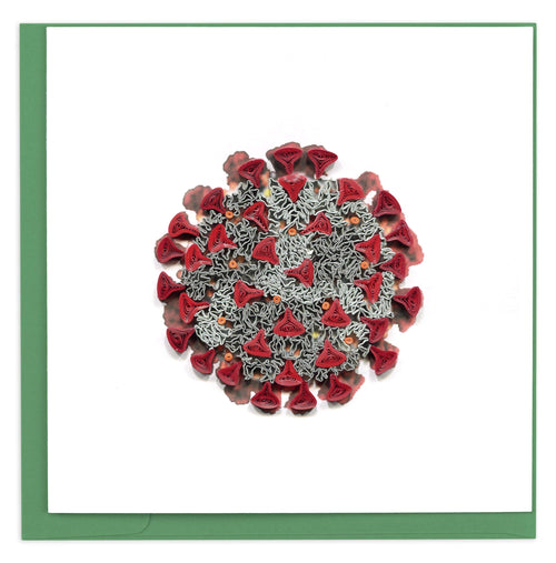 Quilled COVID-19 Card