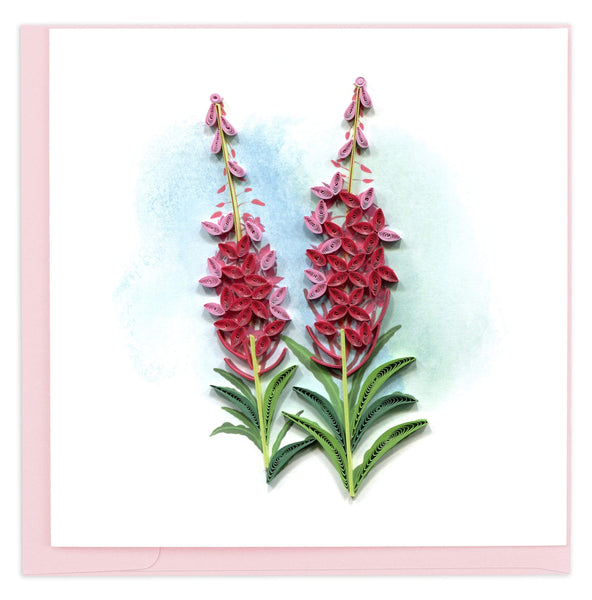 Quilled Fireweed Greeting Card