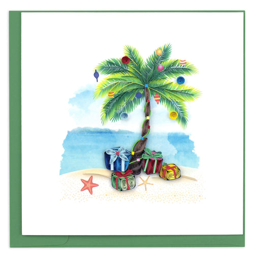 Palm tree with Christmas ornaments