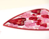 Detail shot of Quilled Valentine's Day Heart Card