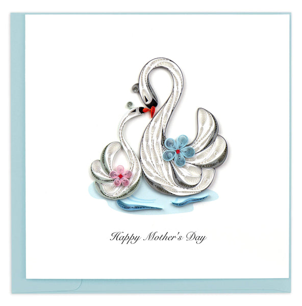 Mother's Day Swans Card
