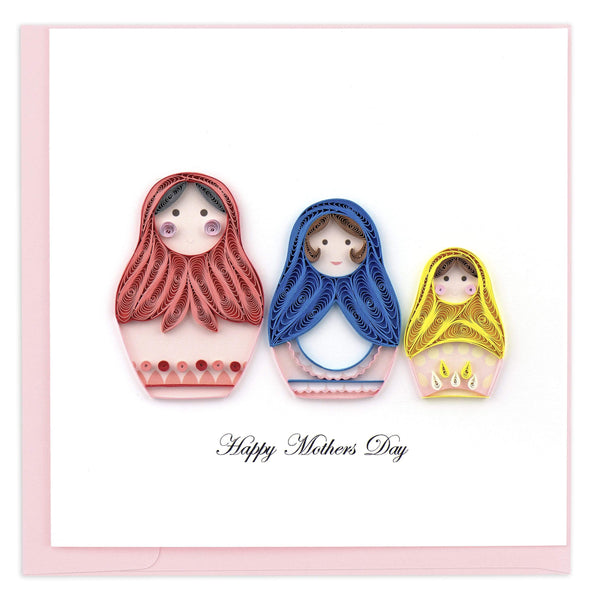 Quilled Mother's Day Nesting Dolls Greeting Card