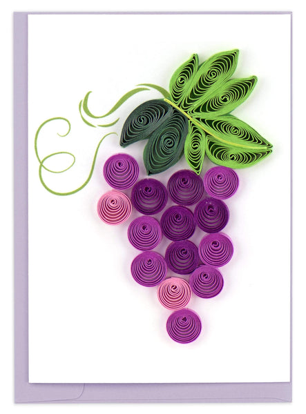 Quilled Purple grape Gift Enclosure