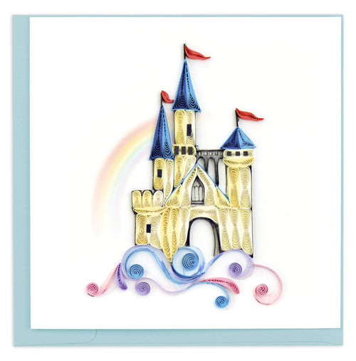 Quilled Castle in the Clouds Greeting Card