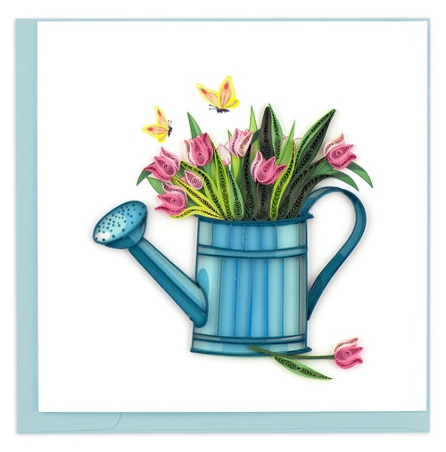 Quilled Happy Gardening Greeting Card