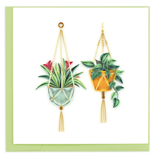 Quilled Macrame Plant Hangers Greeting Card